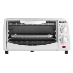 Courant 4-Slice White Countertop Toaster Oven with Bake and Broil Functions and... by Courant