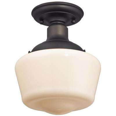 Scholar 1-Light Oil-Rubbed Bronze Semi-Flush Mount Light