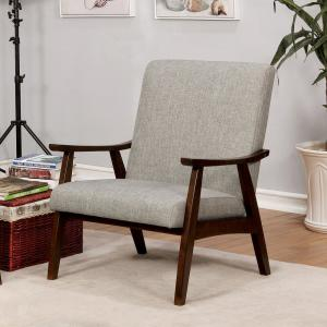 Awesome Henly Light Gray Linen Solid Wood Accent Chair Bralicious Painted Fabric Chair Ideas Braliciousco