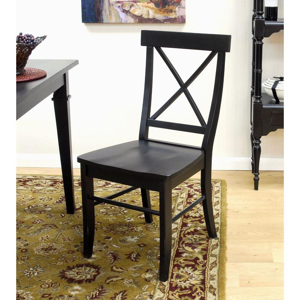 Carolina Cottage Essex Dining Chair in Antique Black
