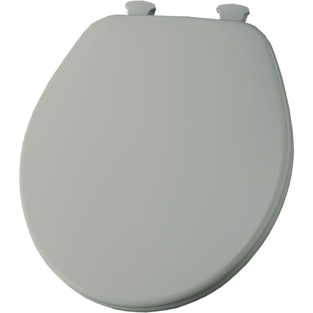 Church Round Closed Front Toilet Seat in Tender Gray-DISCONTINUED
