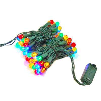 70-Light LED Multi-Color Plastic Globe Electric String Light