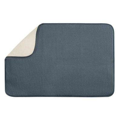 iDry 24 in. x 18 in. X-Large Kitchen Mat in Pewter/Ivory