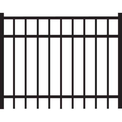 Natural Reflections Standard-Duty 4 ft. x 3 ft. Black Aluminum Straight Pre-Assembled Fence Gate