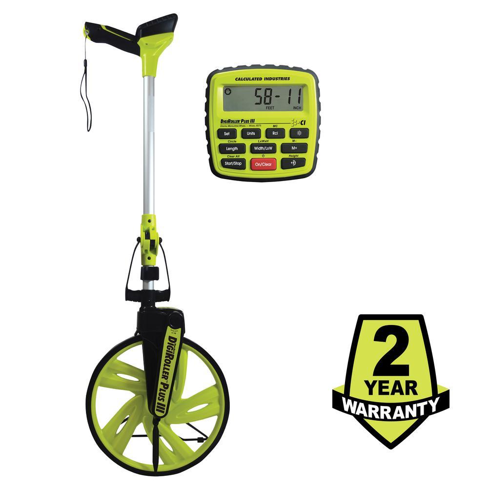 Calculated Industries 12.5 in. DigiRoller Plus III Digital Measuring Wheel