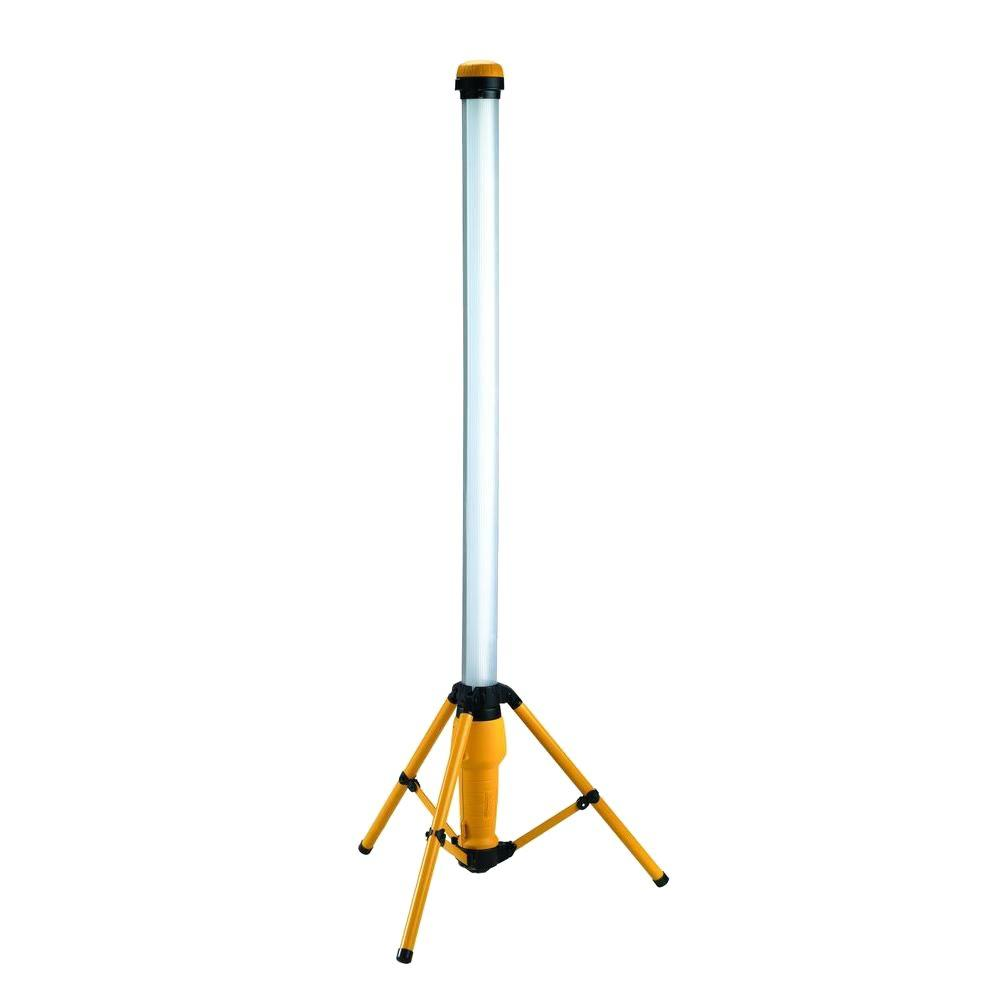Designers Edge Portable Fluorescent Work Light: Husky 3200-Lumens Batman Multi-Directional LED Tripod