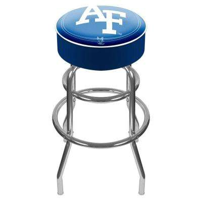 Air Force Falcons 31 in. Chrome Padded Swivel Bar Stool