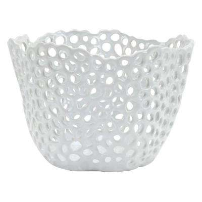 10 in. White Ceramic Bowl