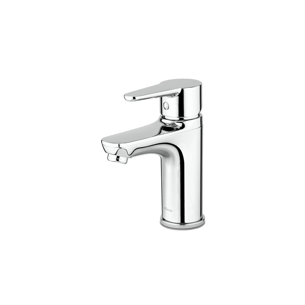 Pfister Pfirst Modern Single Hole Single Handle Bathroom Faucet In Polished Chrome Lg142 0600