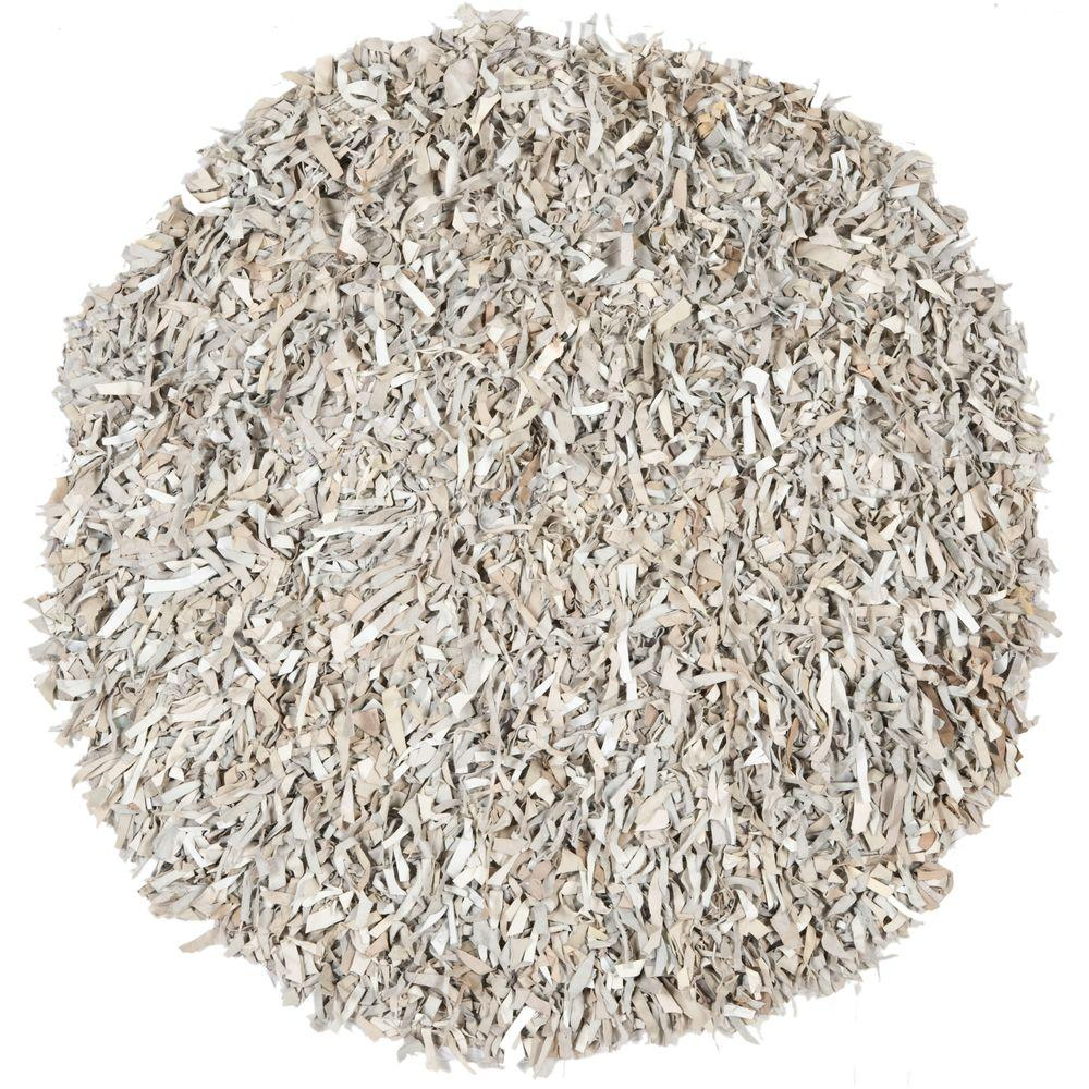 This Review Is From Leather White 6 Ft X Round Area Rug