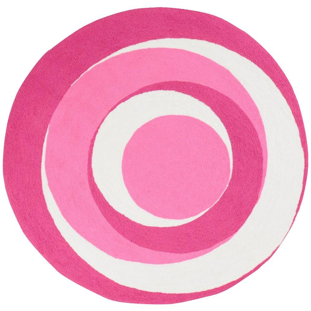 Artistic Weavers Abigail Hot Pink 4 ft. Round Area Rug-DISCONTINUED