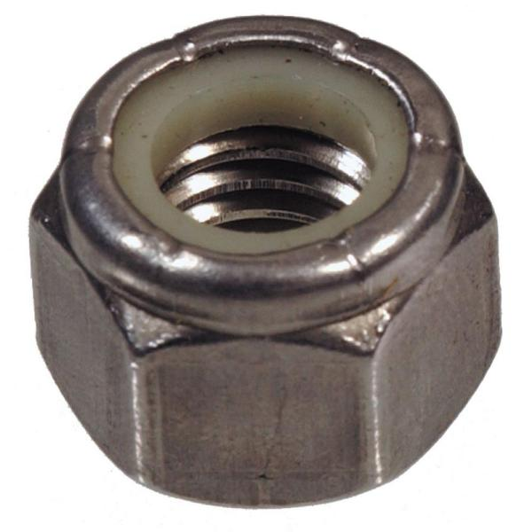 1/4''-28 Stainless Steel Nylon Insert Stop Nut (15-Pack)