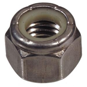 Stainless Steel 18-8 Stainless 8-32 Nylock Hex Nut 100 pcs, 8-32 Nylock Nut Machine Thread