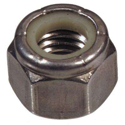 7/16 - 14 in. Stainless Steel Nylon Insert Stop Nut (4-Pack)