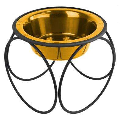 6.25 Cup Olympic Single Diner Feeder with Dog Bowl, 24K Gold
