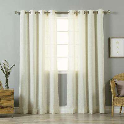 84 in. L Flax Linen Blend Curtain Panel (2-Pack)
