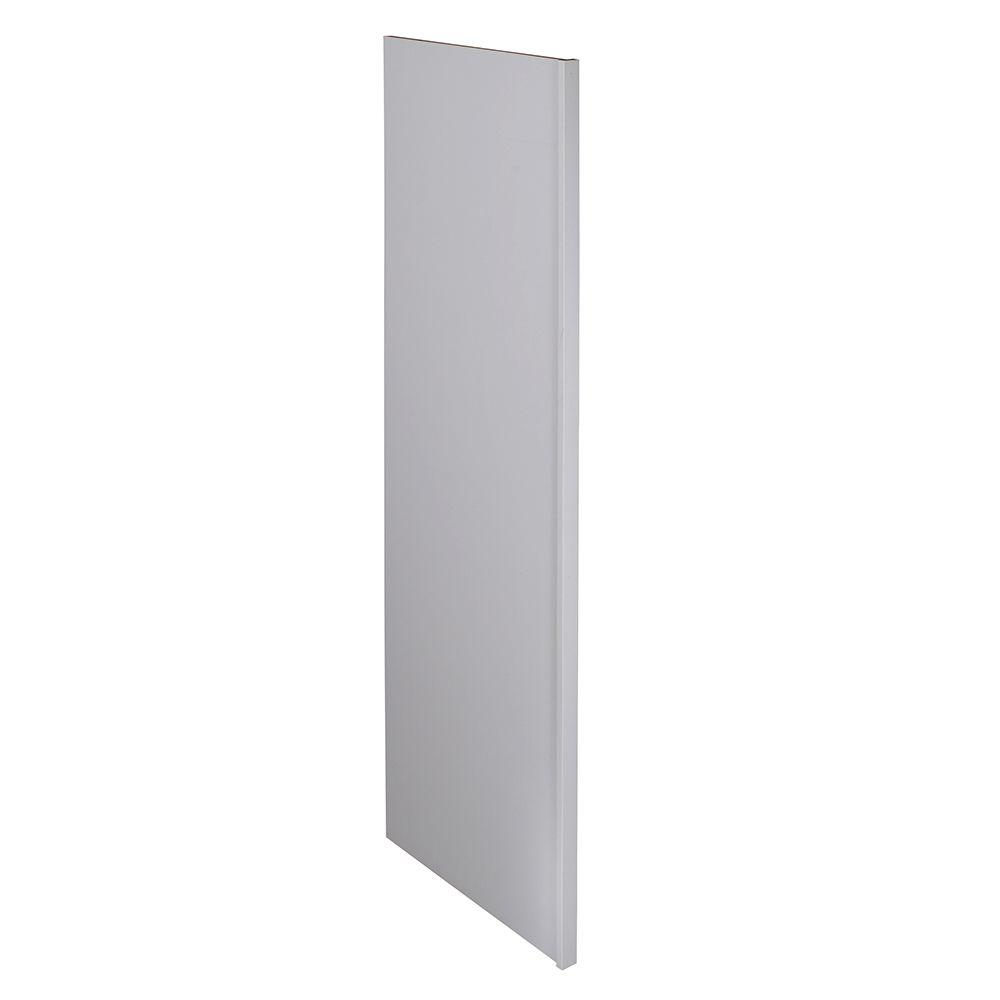 Home Decorators Collection Newport Assembled 1.5 x 90 x 24 in. Pantry/Utility Kitchen Refrigerator Panel Pacific White
