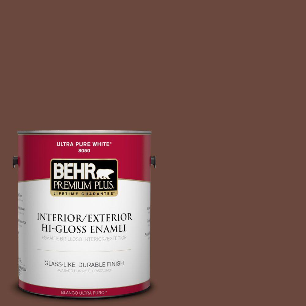 1-gal. #BXC-45 Classic Brown Hi-Gloss Enamel Interior/Exterior Paint