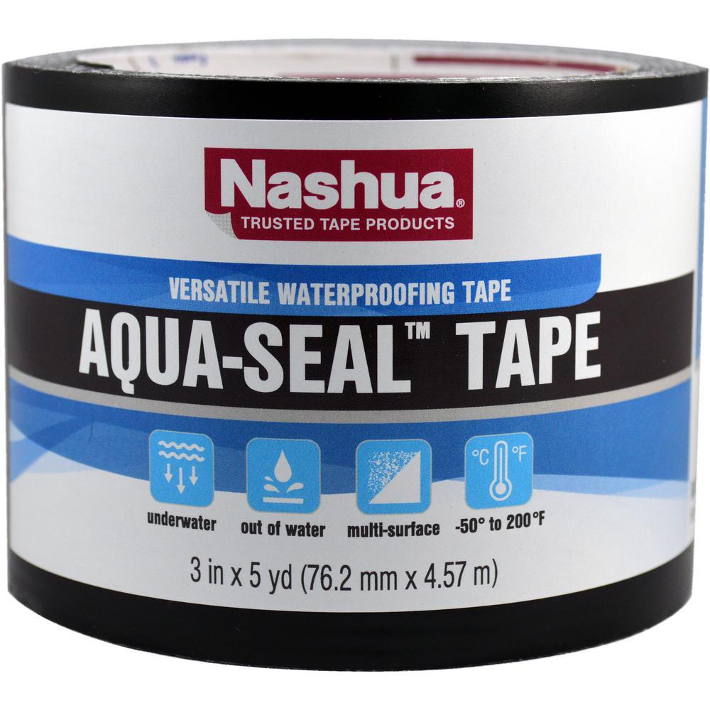 Nashua Tape 3 In X 5 Yds Aqua Seal Tape In Black 1529844