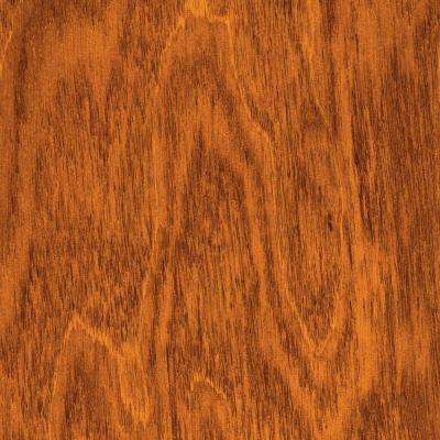 Hand Scraped Maple Amber 3/8 in. T x 4-3/4 in. W x Varying Length Click Lock Hardwood Flooring (24.94 sq. ft. / case)