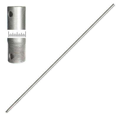 3/4D 72 in. Brushed Nickel Extension Downrod