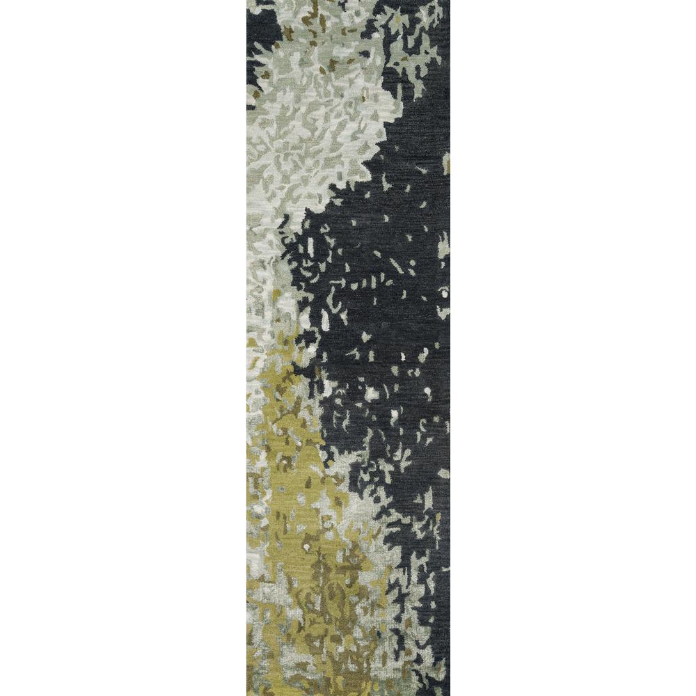 Zen ZEN-9 Green 2 ft. x 8 ft. Hand Tufted Wool Runner Rug