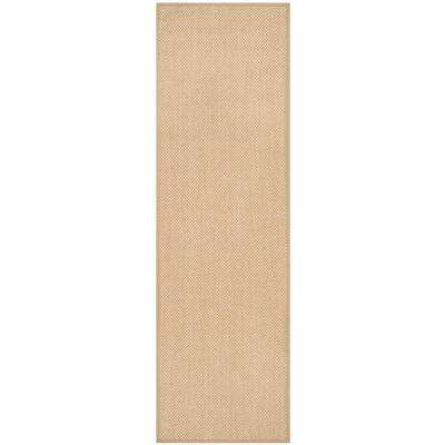 Natural Fiber Maize/Linen 2 ft. 6 in. x 16 ft. Runner Rug