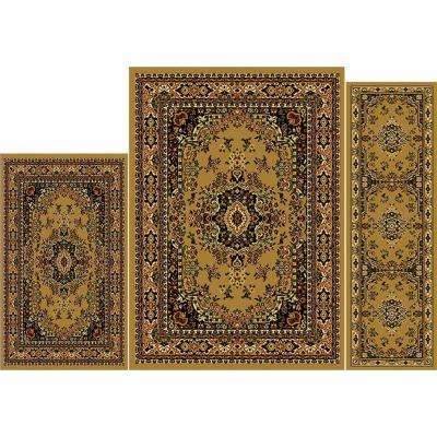 Ariana Sand 4 ft. 11 in. x 6 ft. 11 in. 3-Piece Rug Set