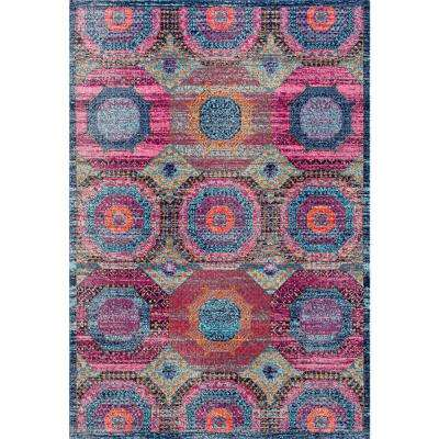 Marva Faded Medallion Multi 8 ft. x 10 ft. Area Rug