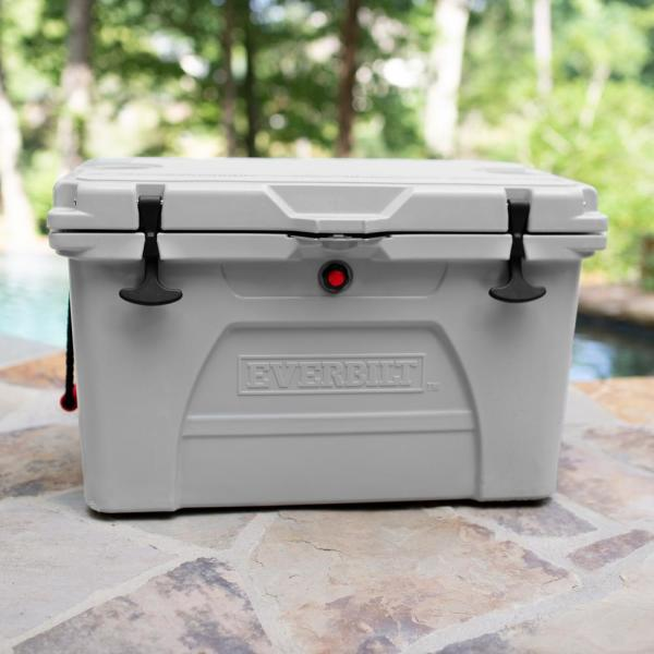 52 Qt. High-Performance Cooler in Gray with Lockable Lid - Holds 58 lbs. of Ice