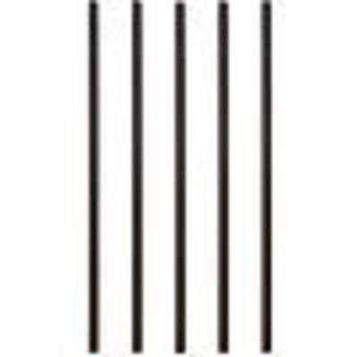 32 in. x 3/4 in. Black Aluminum Round Deck Railing Baluster (5-Pack)