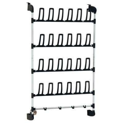 12-Pair Overdoor Storage Shoe Rack