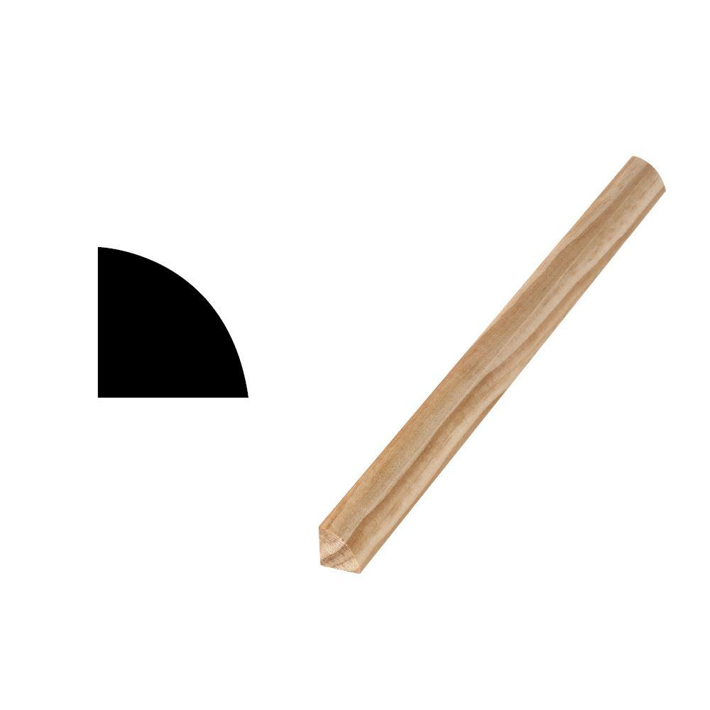 Woodgrain Millwork WM 108 - 1/2 in. x 1/2 in. Solid Pine Quarter Round Moulding