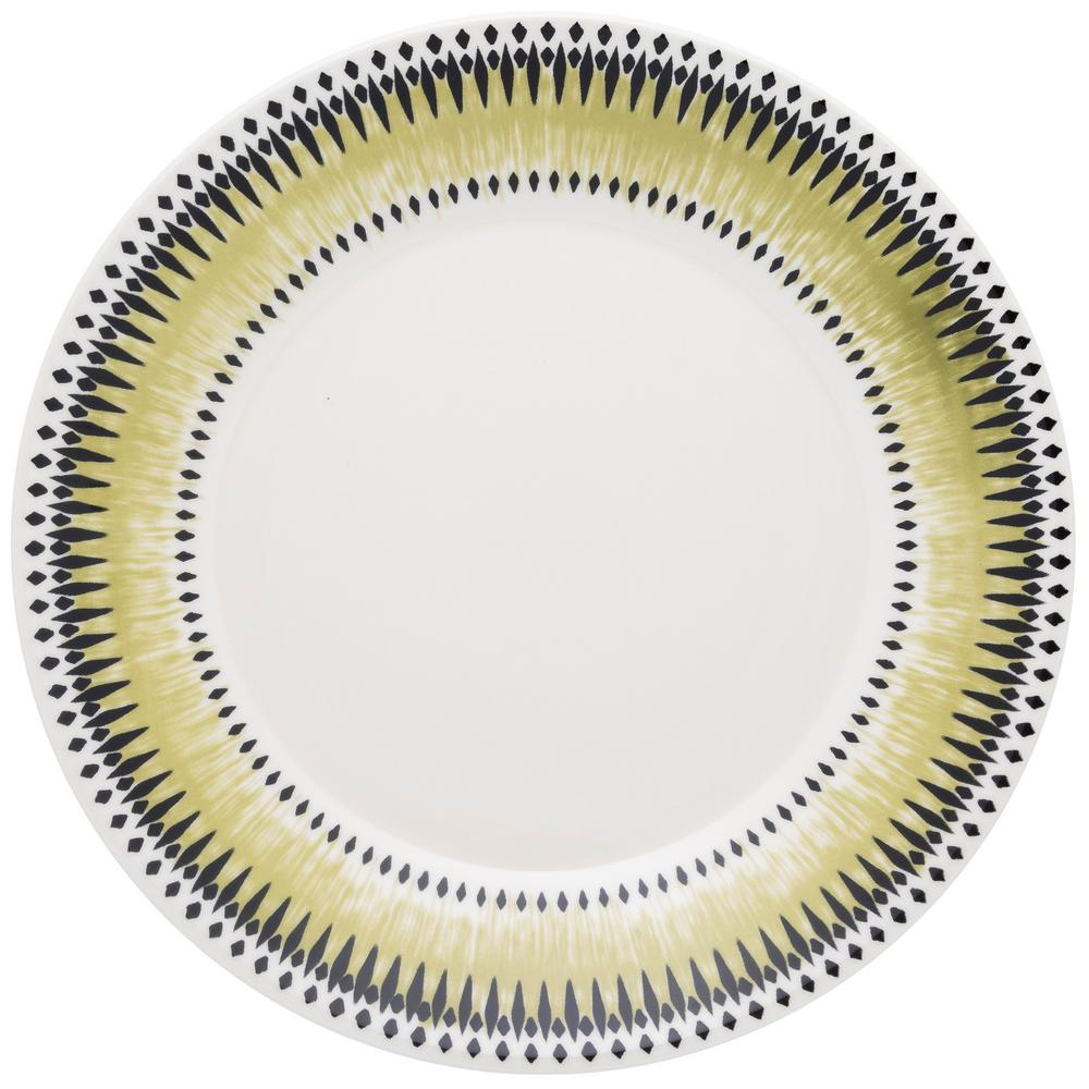 Manhattan Comfort 10.24 in. Actual Green and Black Dinner Plates (Set of 6) was $69.99 now $36.34 (48.0% off)
