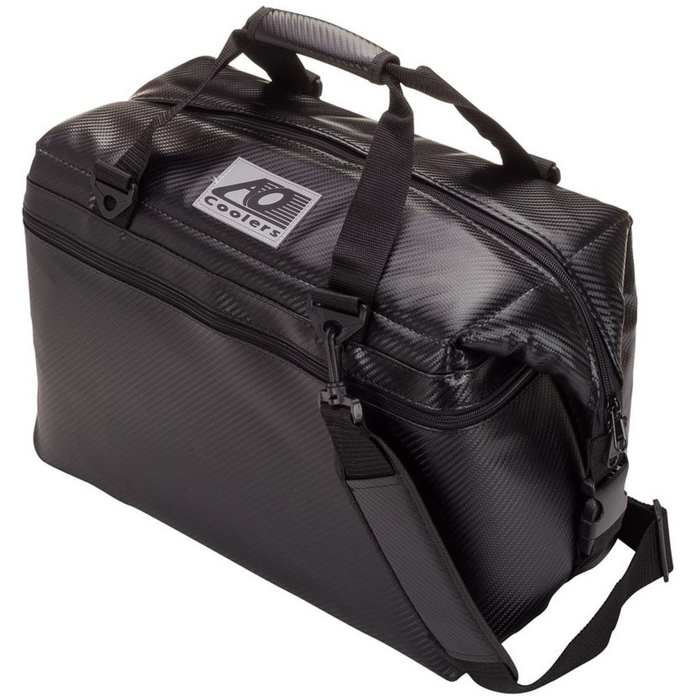 30 Qt. Soft Carbon Cooler with Shoulder Strap and Wide Outside