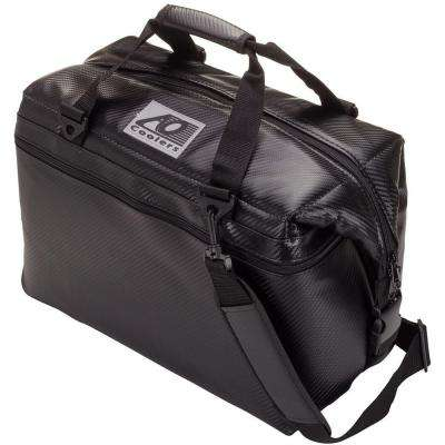 30 Qt. Soft Carbon Cooler with Shoulder Strap and Wide Outside Pocket
