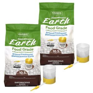 10.5 lbs. Diatomaceous Earth Food Grade 100% with 21 lbs. Powder Duster Applicator (2-Pack)