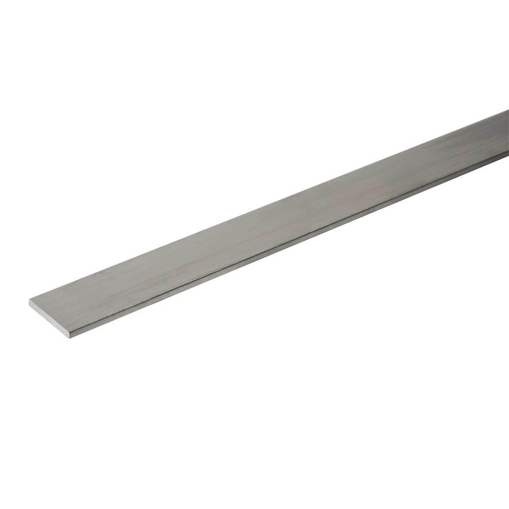 Everbilt 2 in. x 96 in. Aluminum Flat Bar with 1/8 in. Thickness