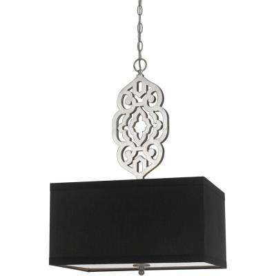 8421 4-Light Silver Pendant