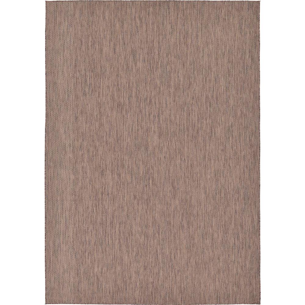 Unique Loom Outdoor Solid Light Brown 8 0 X 11 4 Area Rug 3128946