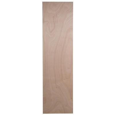 Easthaven Shaker 23.76x90.00x0.51 in. Pantry End Panel in Unfinished Beech