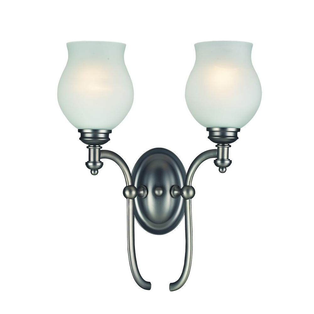 Tulen Lawrence 2 Light Wall Antique Pewter Incandescent Sconce-DISCONTINUED