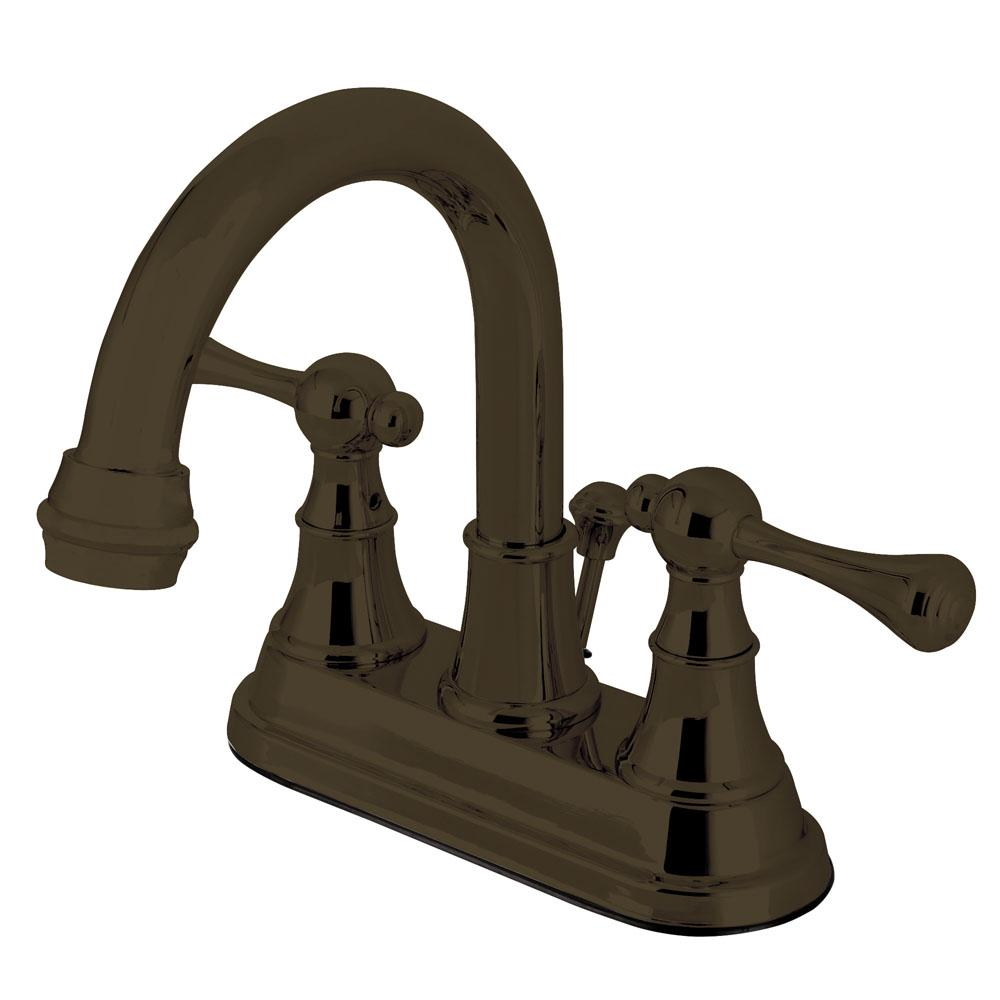 Sutton 4 in. Centerset 2-Handle High-Arc Bathroom Faucet in Oil Rubbed