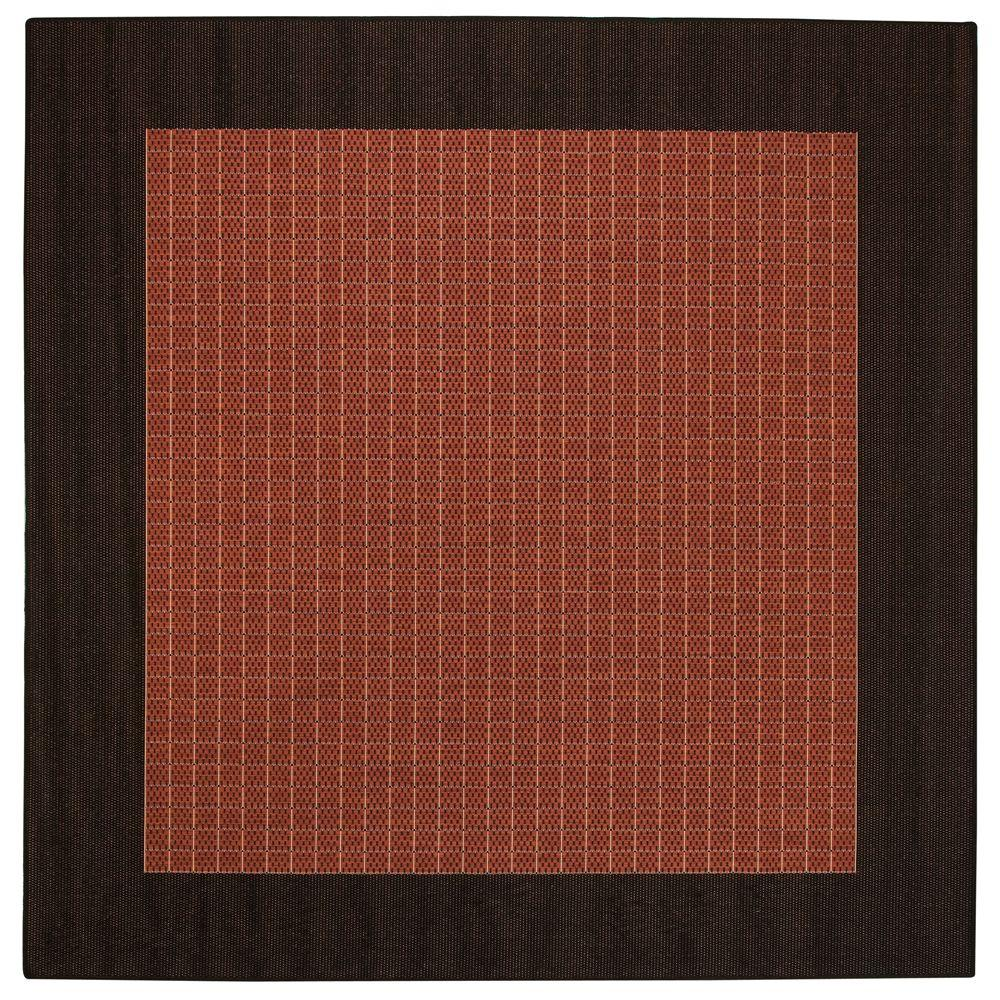 Home Decorators Collection Checkered Field Terracotta 8 ft. 6 in. Square Area Rug