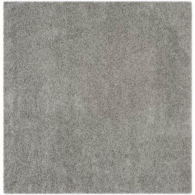 Athens Shag Light Gray 7 ft. x 7 ft. Square Area Rug