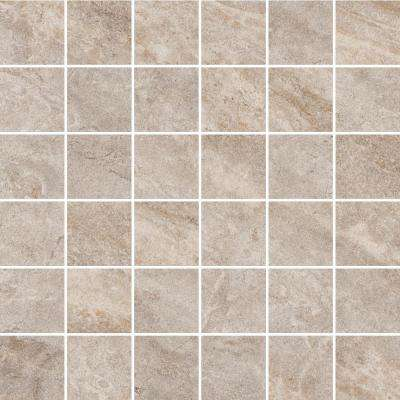 Caledonia Gris 12 in. x 12 in. x 8.5 mm Porcelain Mosaic Tile