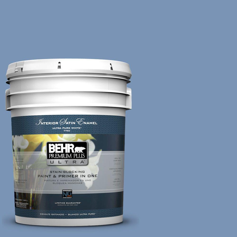 BEHR Premium Plus Ultra 5-gal. #T13-5 Belladonna Satin Enamel Interior Paint