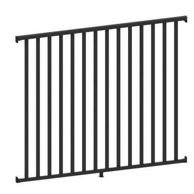 AquatinePLUS 5/8 in. x 72 in. x 4 ft. Black Aluminum Pool Fence Rail and Picket Kit