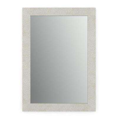 33 in. x 47 in. (L1) Rectangular Framed Mirror with Standard Glass and Easy-Cleat Flush Mount Hardware in Stone Mosaic