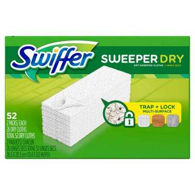 Sweeper Unscented Dry Cloth Multi-Surface Refills for Duster Floor Mop (52-Count)
